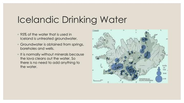 Icelandic Drinking Water