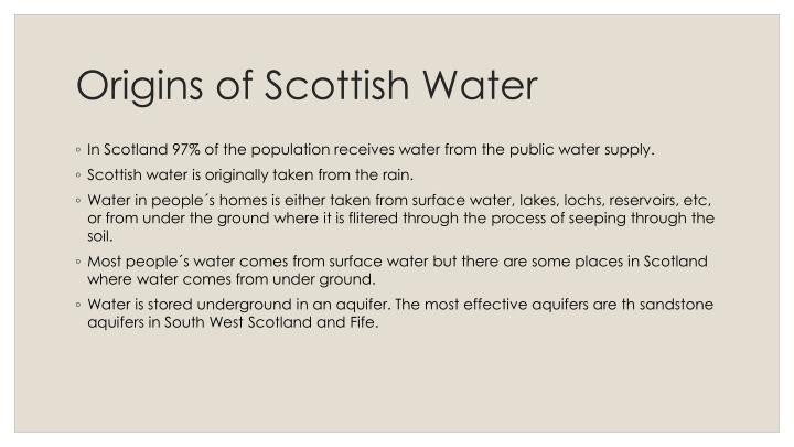 Origins of scottish water