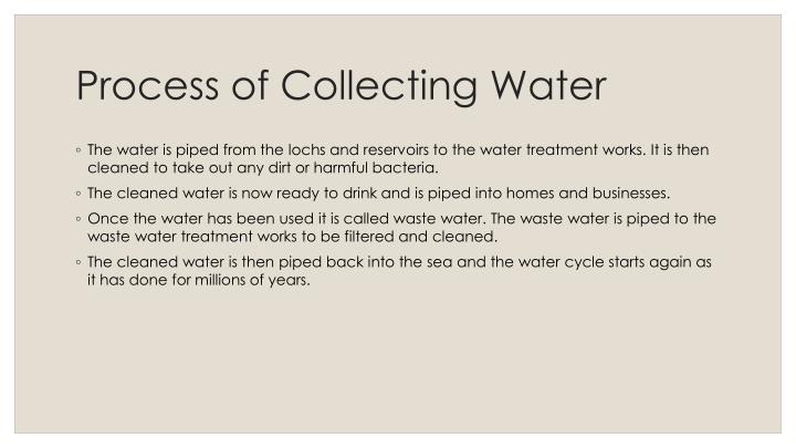 Process of Collecting Water