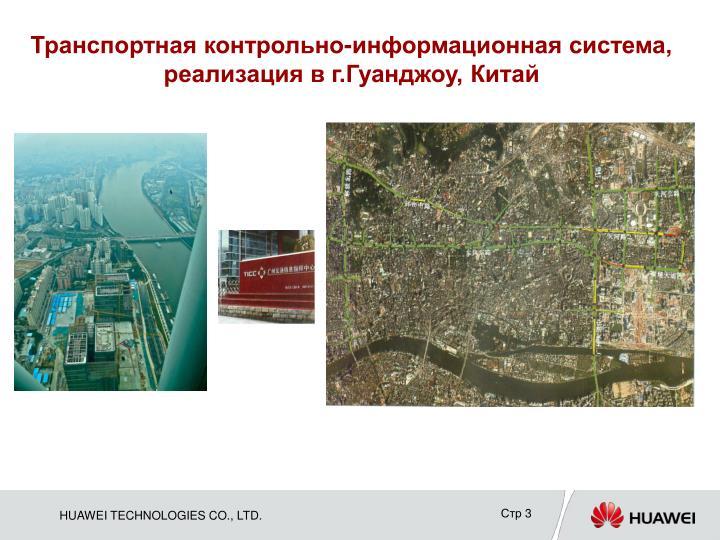 Транспортная контрольно-информационная система, реализация в