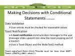 making decisions with conditional statements continued4