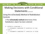 making decisions with conditional statements continued5