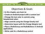objectives goals