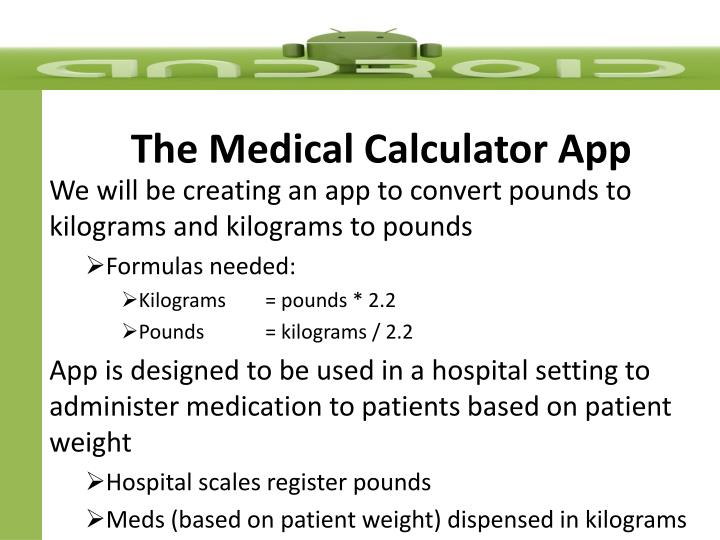 The Medical Calculator App