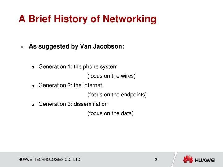 A brief history of networking