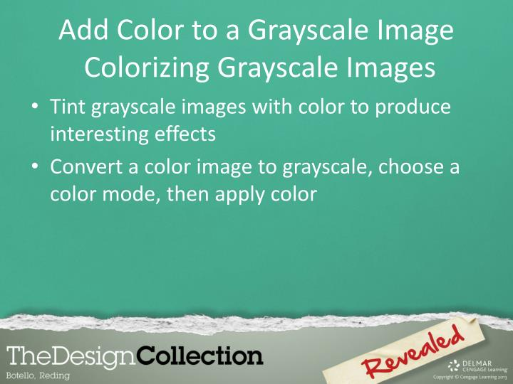 Add Color to a Grayscale Image