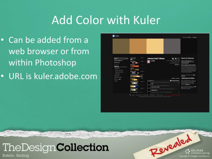 Add Color with Kuler