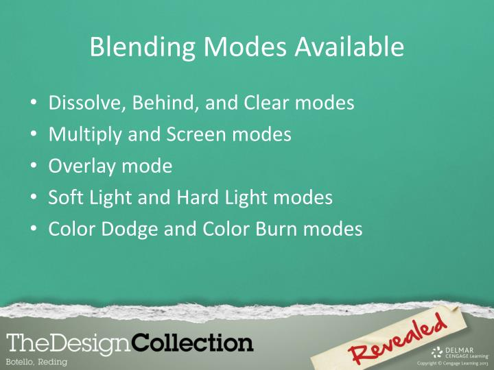 Blending Modes Available
