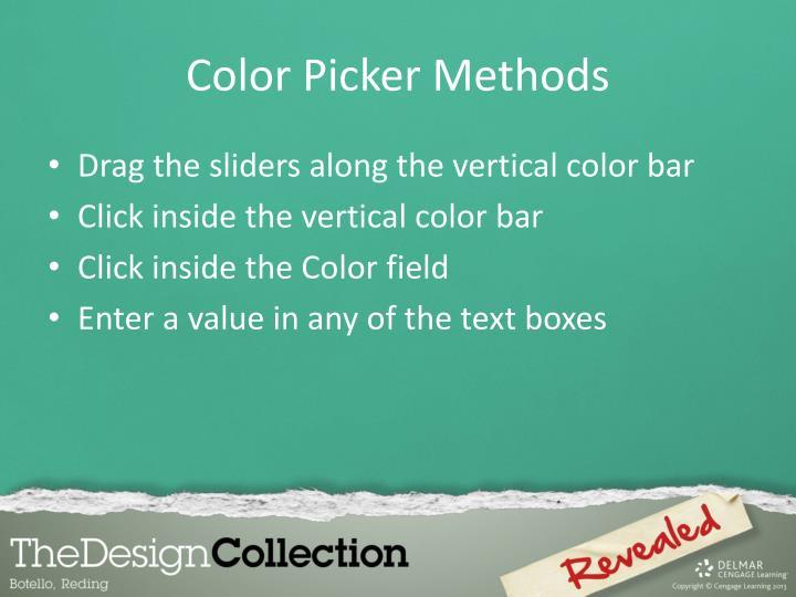 Color Picker Methods