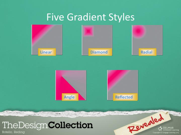 Five Gradient Styles