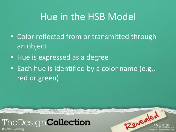 Hue in the HSB Model
