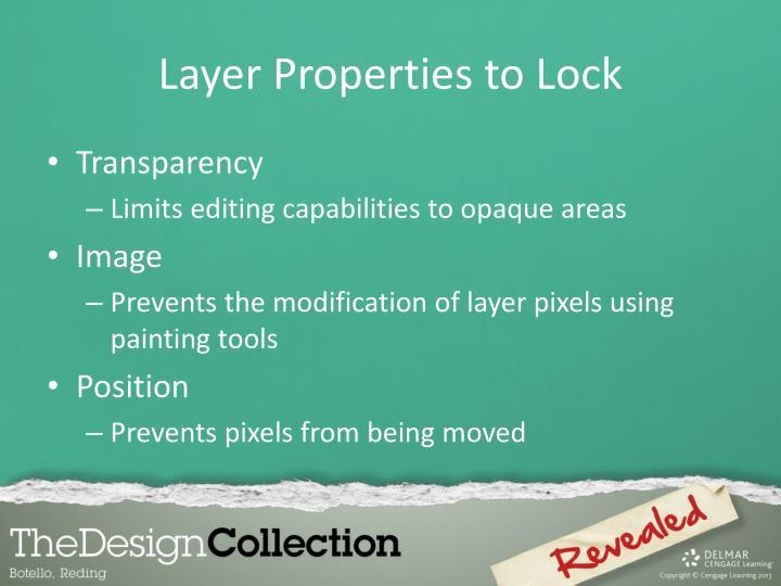 Layer Properties to Lock