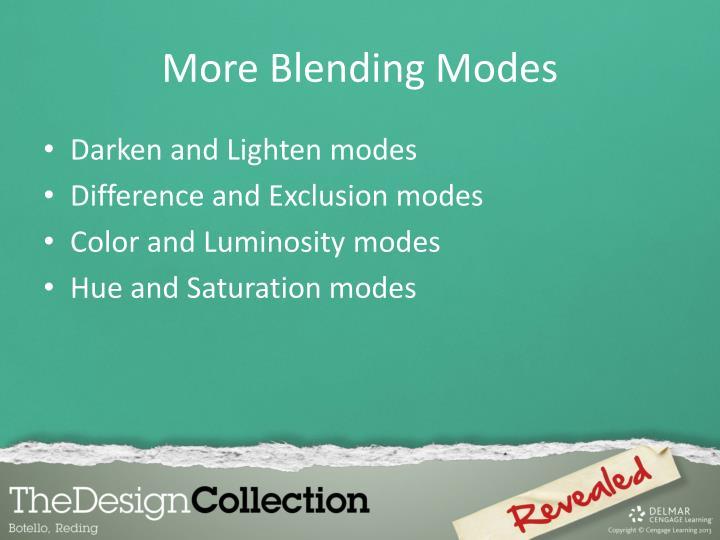 More Blending Modes