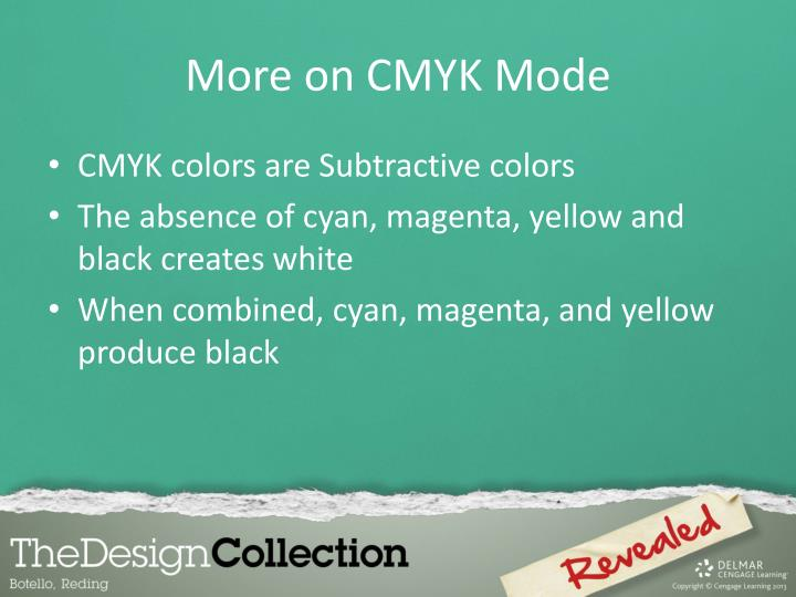 More on CMYK Mode
