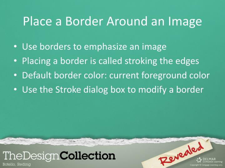 Place a Border Around an Image