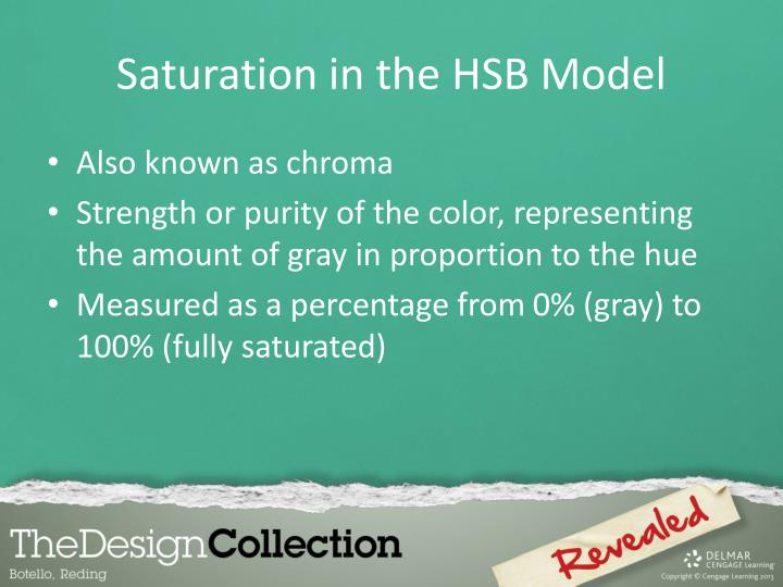 Saturation in the HSB Model