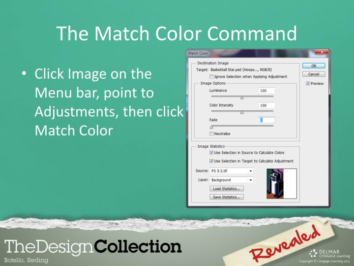 The Match Color Command