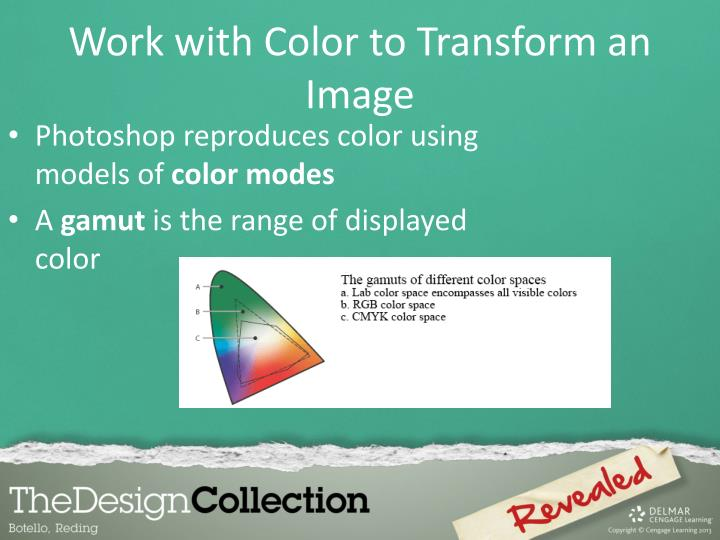 Photoshop reproduces color using models of