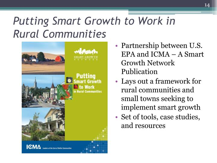 Putting Smart Growth to Work in Rural Communities