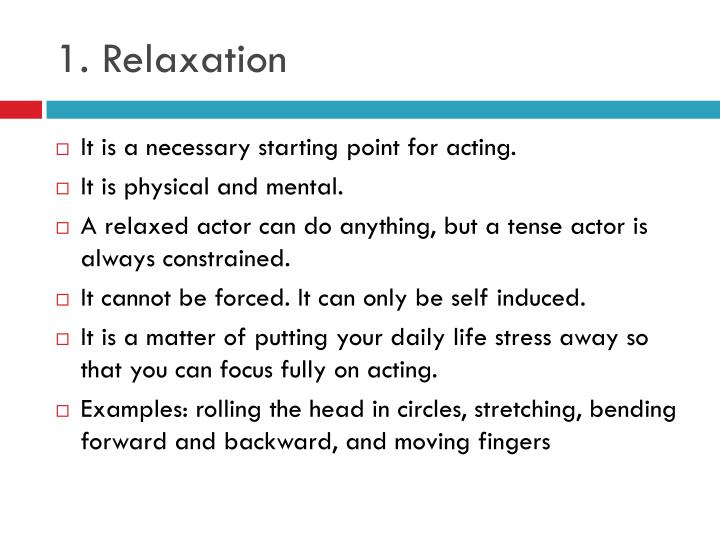 1. Relaxation