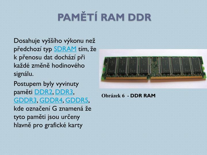 pamětí RAM DDR