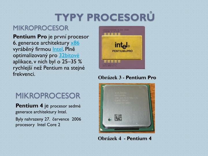 Typy procesorů