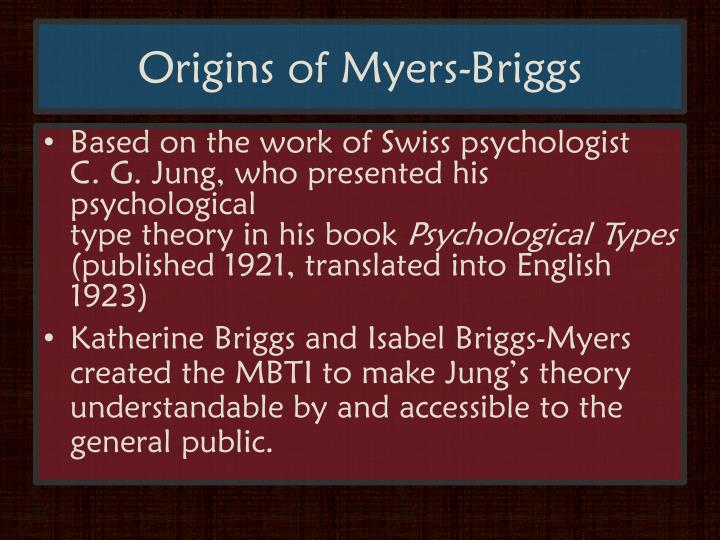 Origins of myers briggs