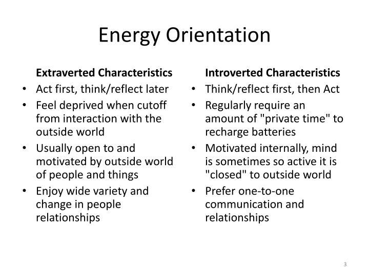Energy Orientation