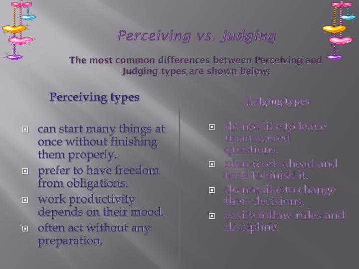 Perceiving types