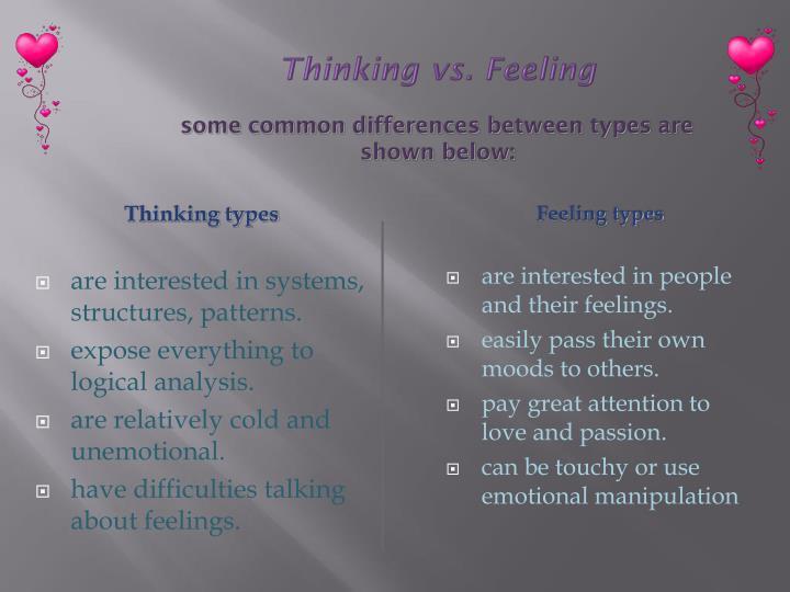 Thinking types