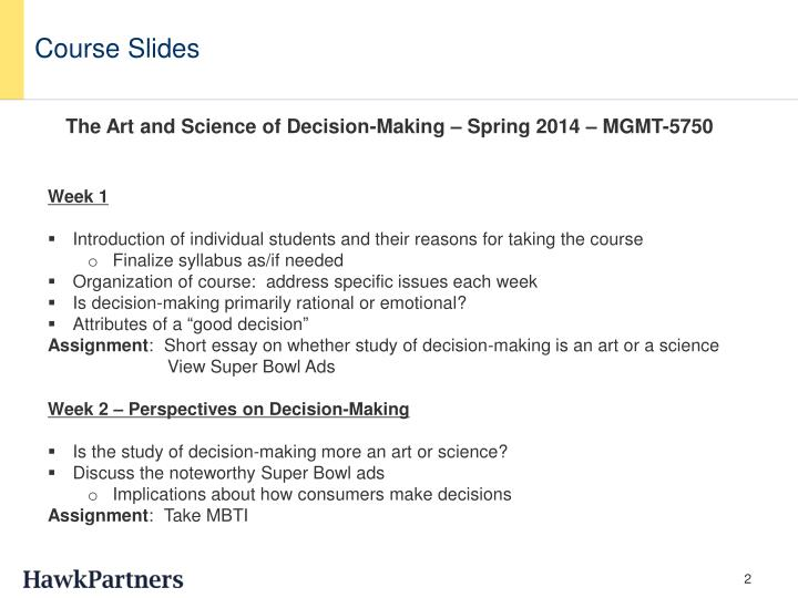 Course Slides