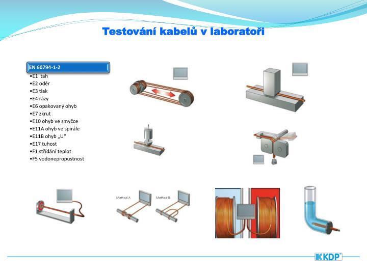 Testování kabelů v laboratoři