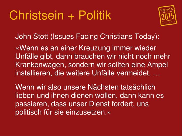 Christsein + Politik