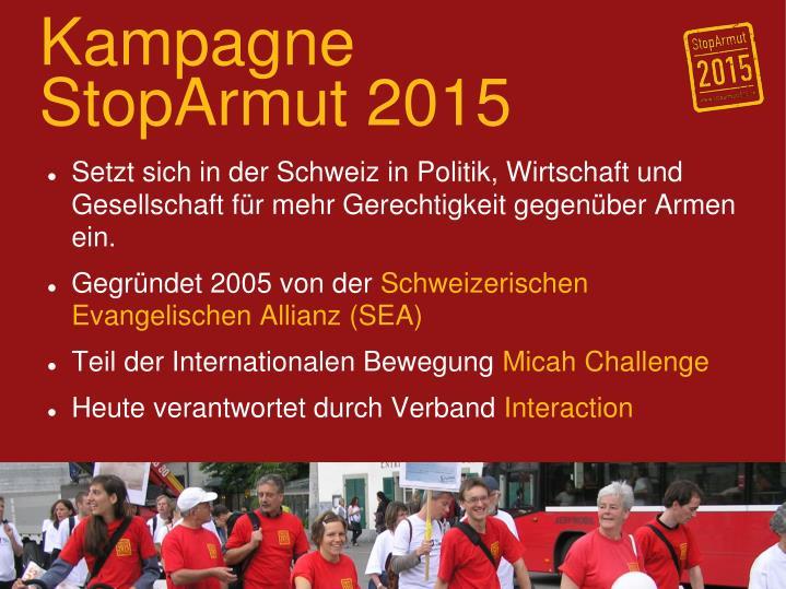 Kampagne StopArmut 2015