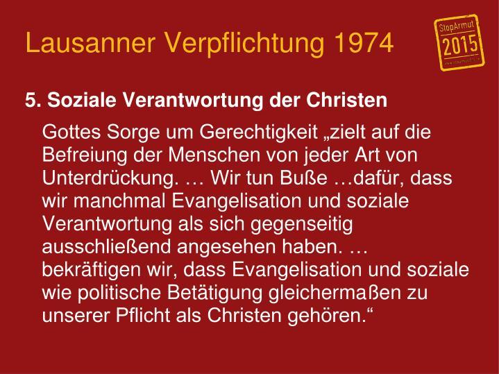 Lausanner Verpflichtung 1974