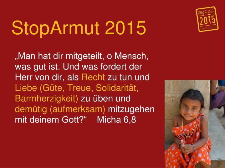 StopArmut 2015
