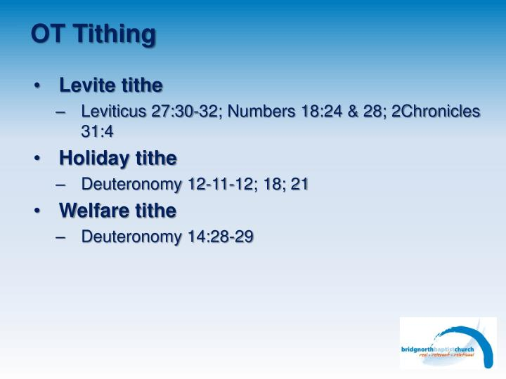 OT Tithing