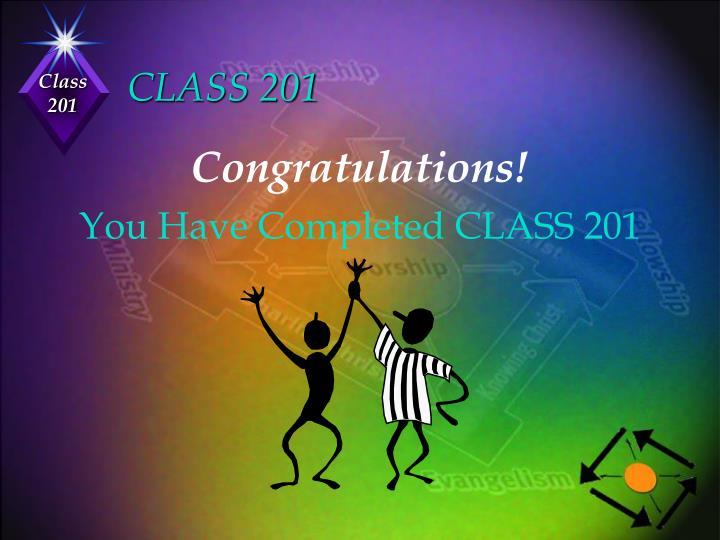 CLASS 201