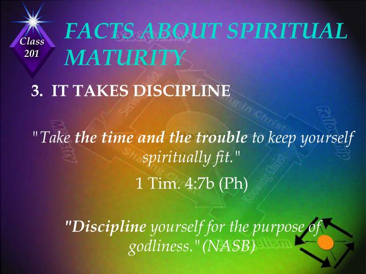 FACTS ABOUT SPIRITUAL MATURITY