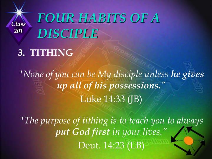 FOUR HABITS OF A DISCIPLE