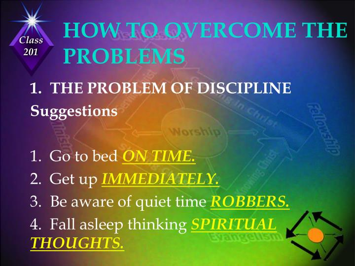 HOW TO OVERCOME THE PROBLEMS