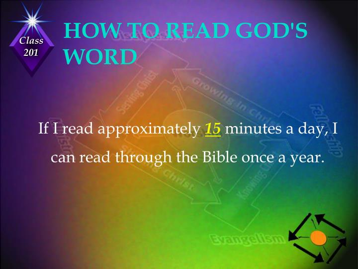 HOW TO READ GOD'S WORD