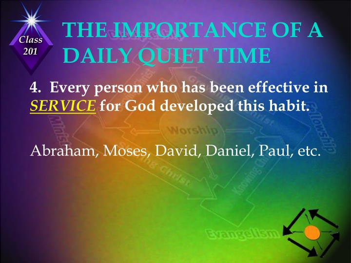THE IMPORTANCE OF A DAILY QUIET TIME
