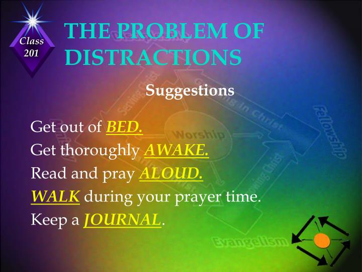 THE PROBLEM OF DISTRACTIONS