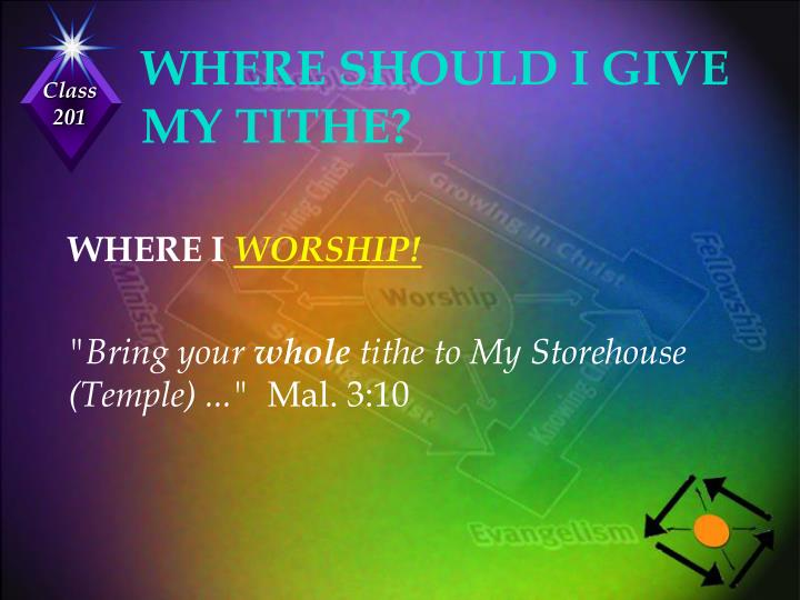 WHERE SHOULD I GIVE MY TITHE?