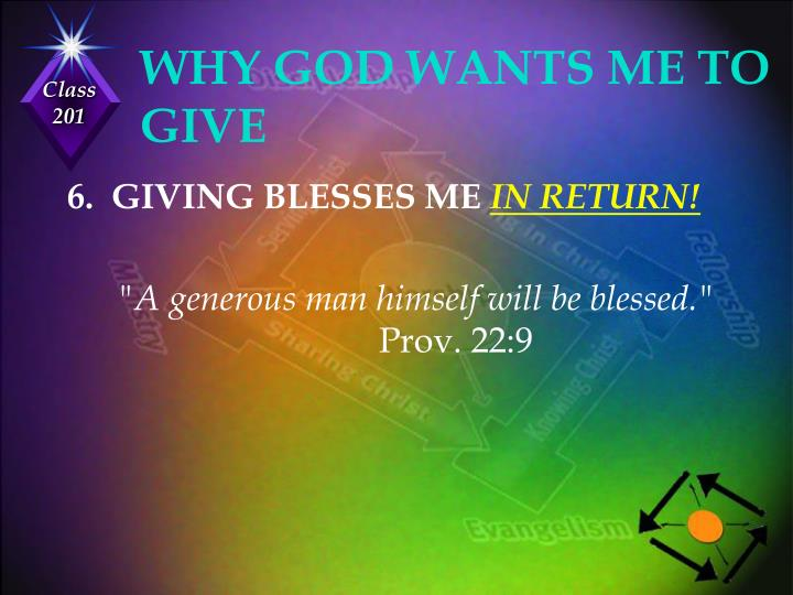 WHY GOD WANTS ME TO GIVE