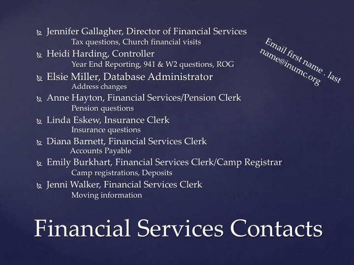 Jennifer Gallagher, Director of Financial Services