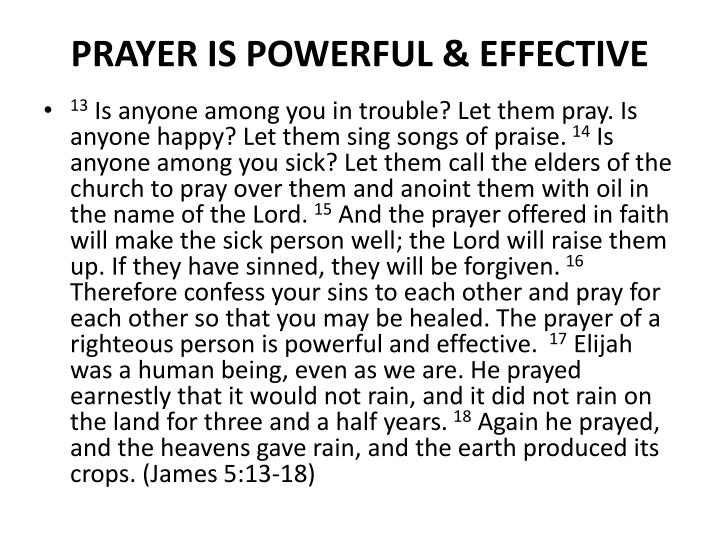 PRAYER IS POWERFUL & EFFECTIVE