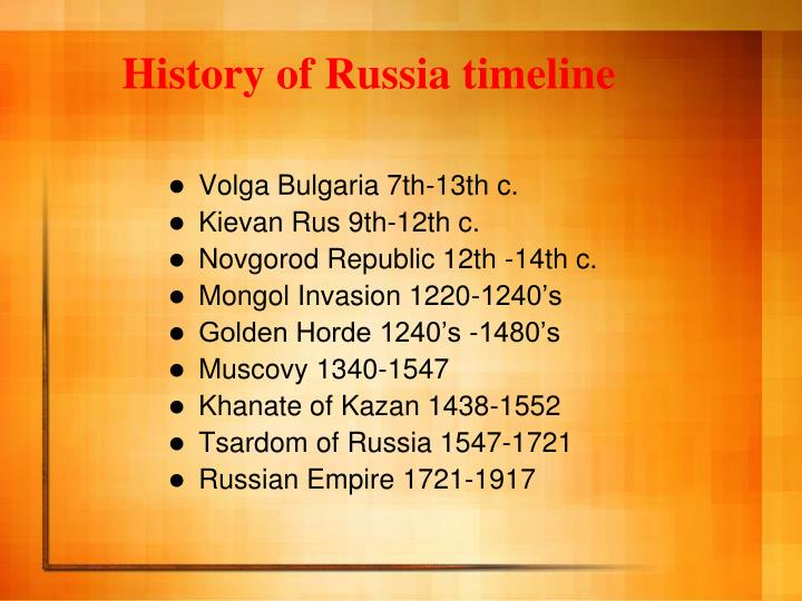 History of Russia timeline