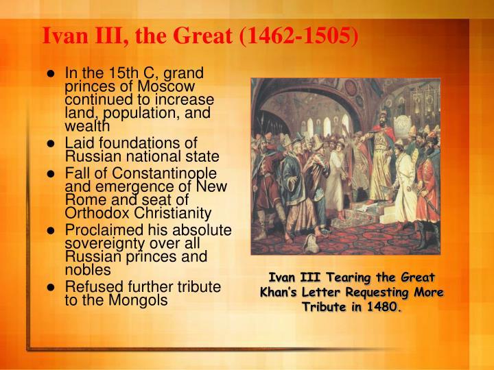 Ivan III, the Great (1462-1505)